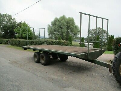 £2450 • Buy 20ft X 8ft Twin Axle Bale Trailer. LGP Tyres.(tractor,bail,straw,hay,silage)