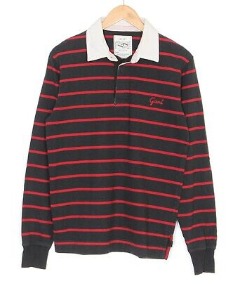 £22.95 • Buy GANT RUGGER Long Sleeve Polo Rugby Shirt Men Size M Striped Casual