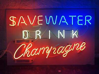 £179.29 • Buy  Save Water Drink Champagne  Neon Light Sign Bistro Wall Decor Neon Sign 24