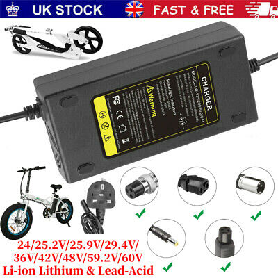 £9.99 • Buy Universal Li-ion Lithium & Lead-Acid Battery Charger Adapter For Scooters Ebike
