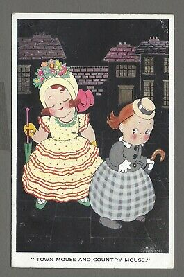 £3.85 • Buy Vintage Postcard 'Town Mouse And Country Mouse' By Chloe Preston. Pmk 1932