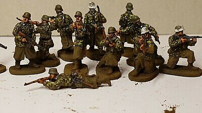 £19 • Buy Expertly Painted WW2 1/72 Waffen Ss Panzergrenadiers X 12.