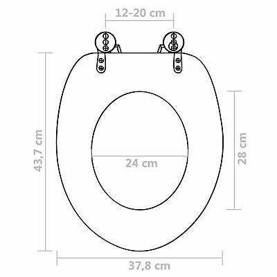 £44.01 • Buy WC Toilet Seat With Soft Close Lid MDF Deep Sea Design S9T3