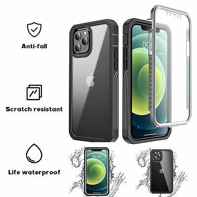 AU13.99 • Buy 360° Full Waterproof Shockproof Clear Case For IPhone 13 12 Pro Max 11 XS XR 8 7
