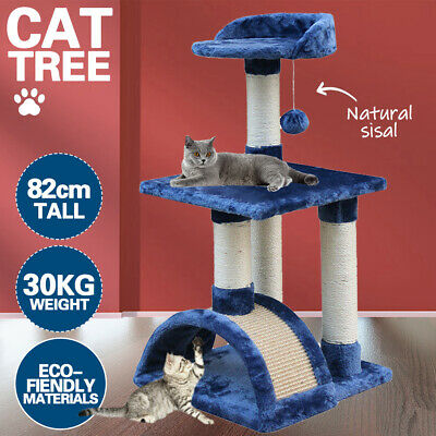 AU30.90 • Buy 82cm Cat Tree Trees Scratching Post Scratcher House Furniture Wood Tower Condo