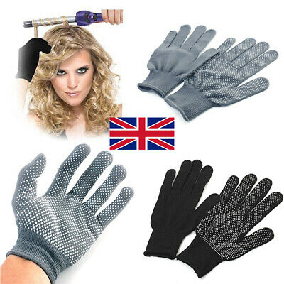 £2.89 • Buy 2 X Heat Proof Resistant Protective Gloves For Hair Styling Tool Straightener UK