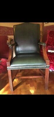 £150 • Buy Gainsborough Carver Chair Green Leather
