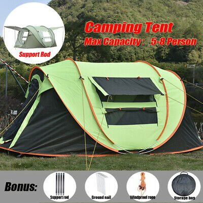 AU89.99 • Buy 5-8 Person Pop Up Tent Instant Family Waterproof Dome Hiking Beach Camping Tent
