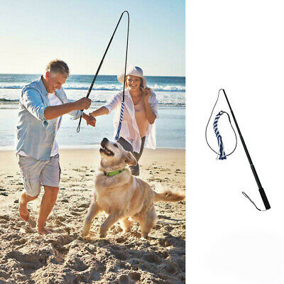 £9.99 • Buy Dogs Flirt Pole Interactive Chase Toys Extendable Outdoor Rope Teaser Exerciser