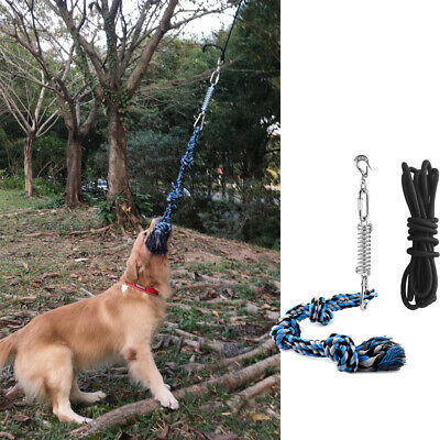 £24.99 • Buy Pitbull Dog Spring Pole Rope Toy Pet Outdoor Exercise Tug Toys Muscle Builder UK