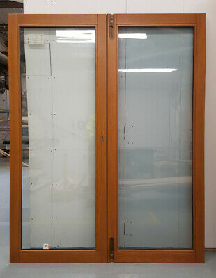 £621 • Buy Wooden Timber Oak French Doors External Glazed Pair Finished 1368x1974mm JWD05