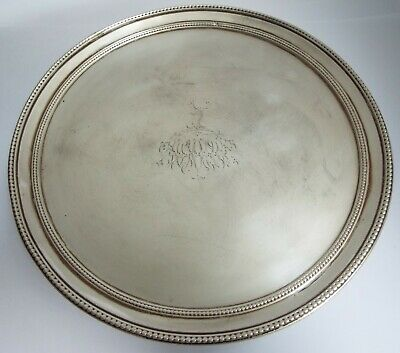 £93.05 • Buy A Fine Large English Antique 18th Cent Georgian 1785 Sterling Silver Salver Tray