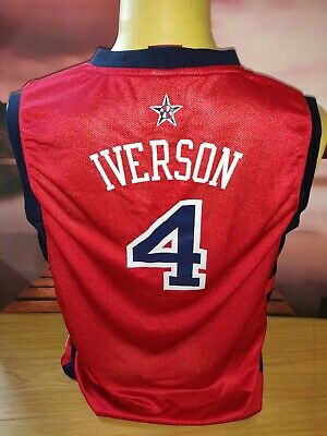 £19 • Buy Allen The Answer Iverson I3 Red USA Dream Team Basketball Jersey NBA