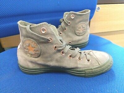 £4.99 • Buy Converse All Star Green Suede Baseball Boots Size 5/37.5