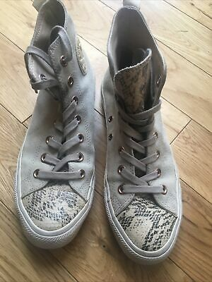 £7.99 • Buy Gorgeous Converse All Star Grey Suede Leather High Tops Uk Size 6