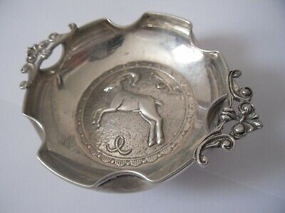 £35 • Buy Antique Sterling Silver Tray Dish With Aries