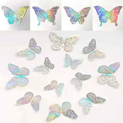 AU3.41 • Buy 12Pc 3D Butterfly Wall Stickers Room DIY Decal Removable Art Nursery Decorations