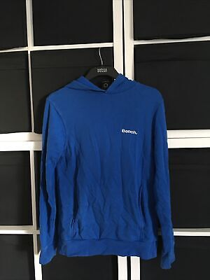 £8 • Buy Bench Size S Small Blue Long Sleeve Hoodie (w13)