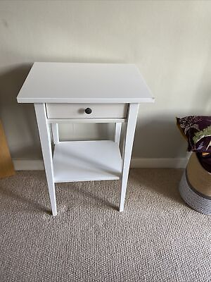 £4.99 • Buy IKEA HEMNES Bedside Table With Drawer, White 46x35 Cm