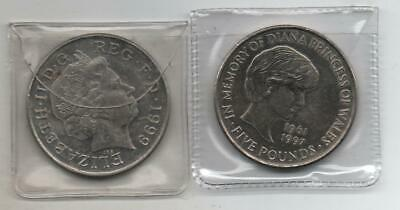 £7 • Buy 1999 In Memory Diana Princess Of Wales £5 COIN, FIVE POUND COIN