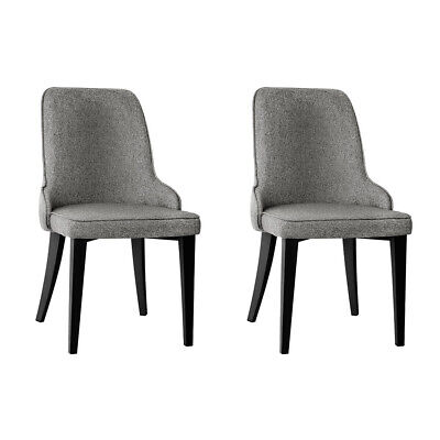 AU186.30 • Buy Artiss Set Of 2 Fabric Dining Chairs - Grey