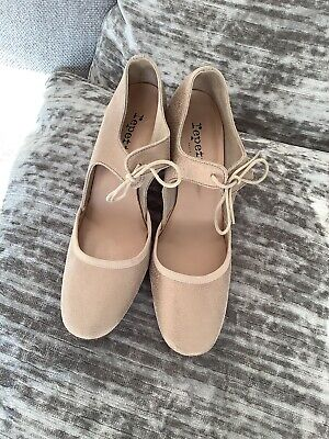 £20 • Buy Repetto Paris Palest Old Gold Suede Mary Jane Dancing Shoes Size 39 Uk 6