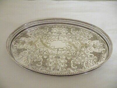 £25 • Buy Vintage Silver Plated  Drinks Cocktails Serving Tray Viners Of Sheffield