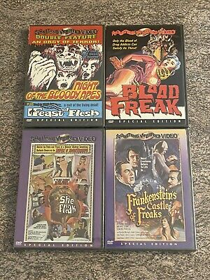 £4.72 • Buy 5 NEW Something Weird Horror / Exploitation Films! 4 DVD Lot! Bloody Apes + MORE