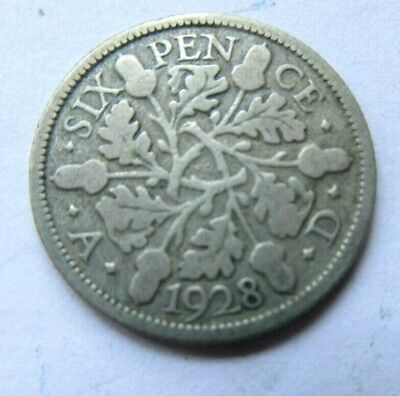 £1.49 • Buy 1928 King George V Silver Sixpence /