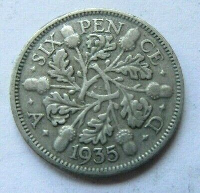£1.49 • Buy 1935 King George V Silver Sixpence /
