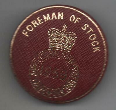 £5.50 • Buy 1959 Royal Agricultural Society Of England  Badge Foreman Of Stock