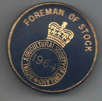£5.50 • Buy 1964 Royal Agricultural Society Of England  Badge Foreman Of Stock