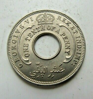£1.99 • Buy 1938 British West Africa 1/10th Of A Penny King George VI