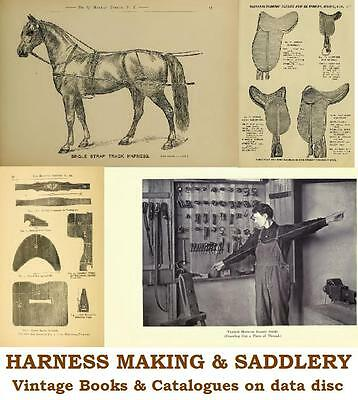 £3.99 • Buy Saddlery Horse Harness Making Repair 19 Vintage Books Catalogues On Data Disc