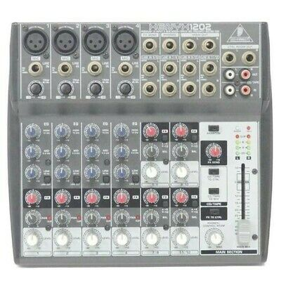 £72.89 • Buy Behringer XENYX 1202 12-Input 8 Channel Analog Mixer Xenyx1202 Box Adapter