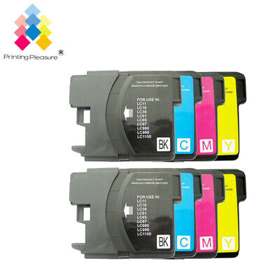 £5.79 • Buy 8 Ink Cartridge Fits Brother LC1100 DCP-395CN MFC-5895CW DCP-6690CW MFC-670CD