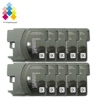 £6.99 • Buy 10BK Ink Cartridge Fits Brother LC1100 DCP-395CN MFC-5895CW DCP-6690CW MFC-670CD