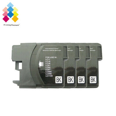 £4.89 • Buy 4BK Ink Cartridge Fits Brother LC1100 DCP-395CN MFC-5895CW DCP-6690CW MFC-670CD