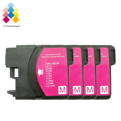 £4.89 • Buy 4M Ink Cartridge Fits Brother LC1100 DCP-395CN MFC-5895CW DCP-6690CW MFC-670CD