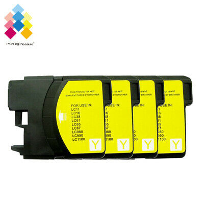 £4.89 • Buy 4Y Ink Cartridge Fits Brother LC1100 DCP-395CN MFC-5895CW DCP-6690CW MFC-670CD