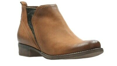 £28.95 • Buy Clarks Ladies Tan Leather Boots Size UK 5 D
