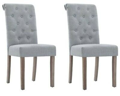 AU149.95 • Buy Artiss 2x Dining Chairs French Fabric Padded Chair Cafe High Back Wood - Grey