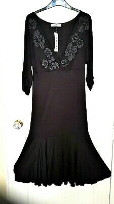£25 • Buy NEW / TAGS - Lovely APPLIQUED DRESS By NOUGAT : SIZE 2, 12 / 14, L 43
