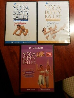 £4.40 • Buy 3 Yoga Booty Ballet Master Series Workout Exercise Fitness DVD Lot Beach Body