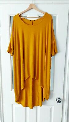 £3.20 • Buy Ladies Lovely Mustard Oversized Top From Yours Size 16