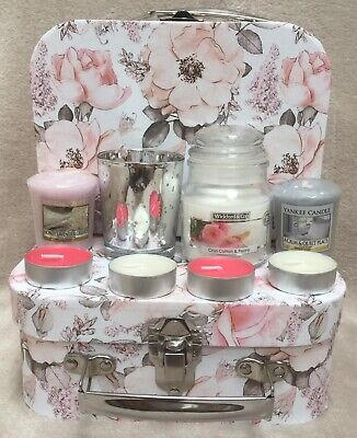 £12.99 • Buy Ladies Gift Hamper For Her Birthday Yankee Candle Gift Set Jar Candle/Votives