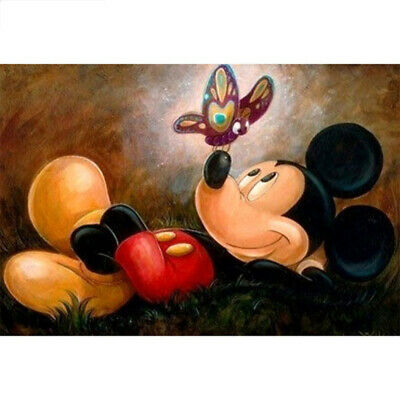 £5.49 • Buy 5D Round Drill Diamond Painting Cross Stitch Kit Mickey Mouse And Bee Decoration