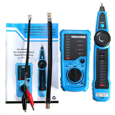 £24.20 • Buy RJ45 RJ11 Network LAN Telephone Cable Toner Wire Line Tester Tracer Tracke