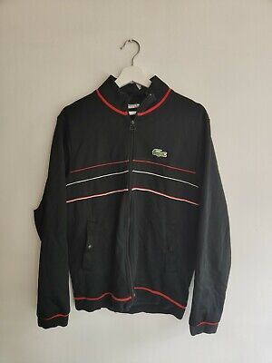 £10 • Buy Lacoste Zip Up Tracksuit Top Size 4 / Medium Good Condition Some Damage