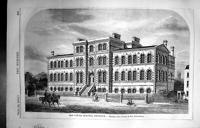 £23 • Buy Antique Print Cancer Hospital Brompton John Young Builder 1860 Architecture